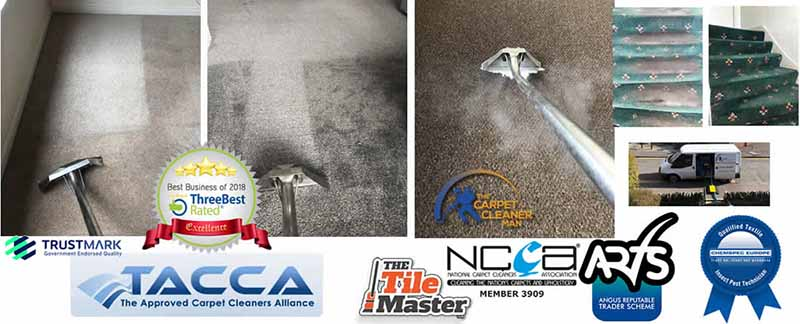 With our truck mounted carpet cleaning machine in Aberdeenshire, your clean carpets are left pretty much dry when we finish!