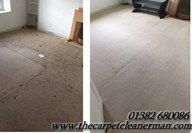 clean and dirty carpets comparison