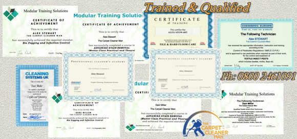 carpet cleaning qualification certificates