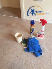 emergency stain treatment from the carpet cleaner man
